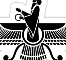 Faravahar, Winged Sun, Symbol Of Higher Spirit Sticker