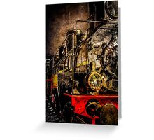 Old Timer Steam Train Greeting Card