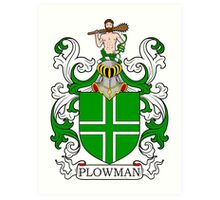 Plowman Coat of Arms Art Print