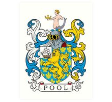 Pool Coat of Arms Art Print