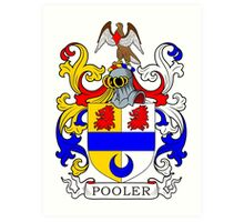 Pooler Coat of Arms Art Print