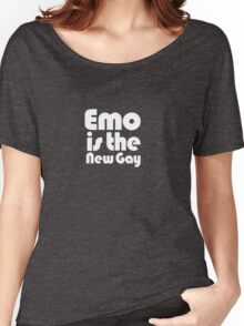 Emo is the new gay Women's Relaxed Fit T-Shirt