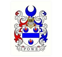 Powe Coat of Arms Art Print
