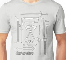 The Weapons of the Company - Black and White Unisex T-Shirt