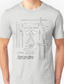 The Weapons of the Company - Black and White T-Shirt