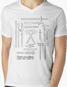 The Weapons of the Company - Black and White Mens V-Neck T-Shirt