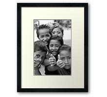 Samoana Kids Framed Print