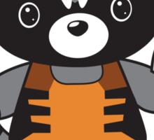 Hello Raccoon Sticker