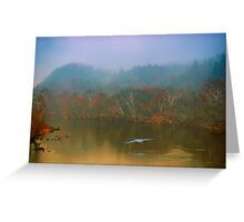 Great Blue Heron on a Misty Day Greeting Card