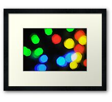 Multi lights Framed Print
