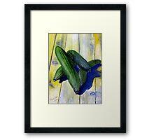 As cool as a cucumber Framed Print