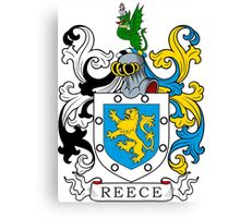 Reece Coat of Arms Canvas Print