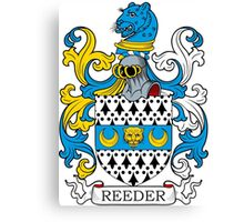 Reeder Coat of Arms Canvas Print