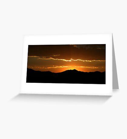 Saratoga Springs Sunset Greeting Card