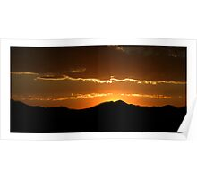Saratoga Springs Sunset Poster