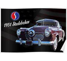 1951 Studebaker Poster