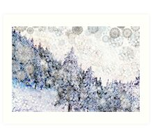Mountain Snow Drift Art Print