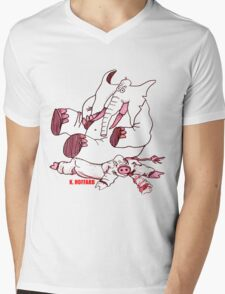No Hogs Mens V-Neck T-Shirt