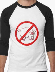 No Hogs Circle  Men's Baseball ¾ T-Shirt