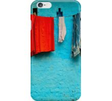 Blue Wall Hangings iPhone Case/Skin