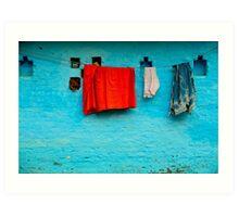 Blue Wall Hangings Art Print