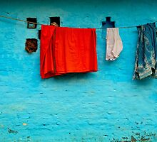 Blue Wall Hangings by Valerie Rosen