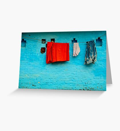 Blue Wall Hangings Greeting Card