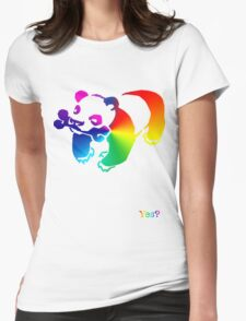 Panda-licious Womens Fitted T-Shirt