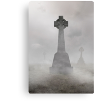Cold foggy morning Canvas Print