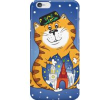 Kat with city iPhone Case/Skin