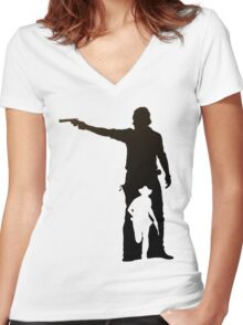 Hunt or Be Hunted Women's Fitted V-Neck T-Shirt