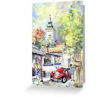 A Beautiful Car In Szentendre Greeting Card