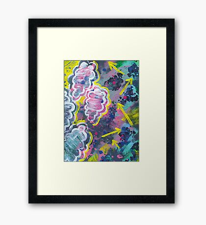 Clouds and Arrows Framed Print