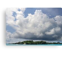 Castle Island under Summer Clouds Canvas Print
