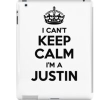 I cant keep calm Im a JUSTIN iPad Case/Skin