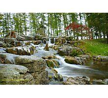 Japanese Garden Waterfall Photographic Print