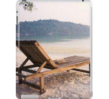 Beach Chair on Koh Rong Samloem, Cambodia iPad Case/Skin