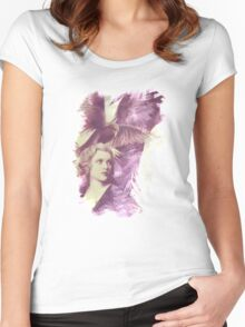 The Lady of Ravens surreal artwork Women's Fitted Scoop T-Shirt