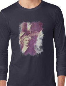 The Lady of Ravens surreal artwork Long Sleeve T-Shirt