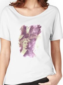 The Lady of Ravens surreal artwork Women's Relaxed Fit T-Shirt