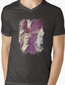 The Lady of Ravens surreal artwork Mens V-Neck T-Shirt