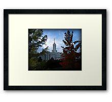 Mt. Timpanogos LDS Temple - American Fork, Utah Framed Print