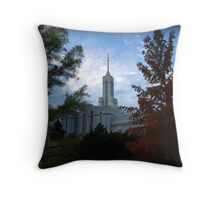 Mt. Timpanogos LDS Temple - American Fork, Utah Throw Pillow