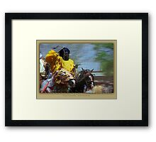 african rider Framed Print