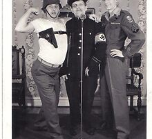 stolen uniforms, guy, uncle ed & gramps circa '46 by Ambur Rockell