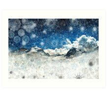 Snow Ridge Mountains Art Print