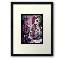Rock 'n roll  Chick Pin Up  Framed Print