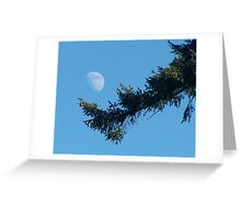 Daytime Moon Greeting Card