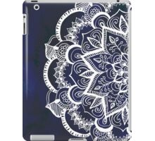 White Feather Mandala on Navy iPad Case/Skin