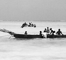 Fishermen on the way to work by Liv Stockley